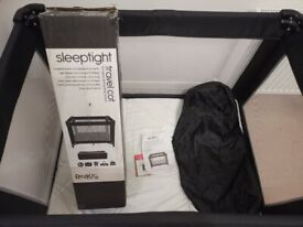 Red Kite Baby Sleeptight Travel Cot with Mothercare Mattress