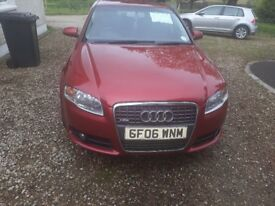 Audi A4 S line red