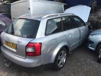 AUDI A4 03 PLATE 1.9 TDI ESTATE SPARES OR REPAIRS STARTS AND DRIVES £250