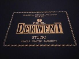 Vintage Derwent Pencils 72 Colour Wooden Box - with Lift Out Trays