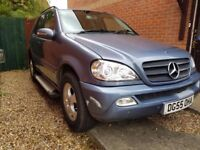 2005 55 MERCEDES ML270 CDI AUTO Towbar 117k & July 2018 MOT 4WD 4X4 ESTATE TRUCK HEATED LEATHER +