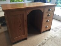 Antique pitch pine desk