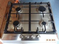 Bosch Gas Hob in stainless brushed steel