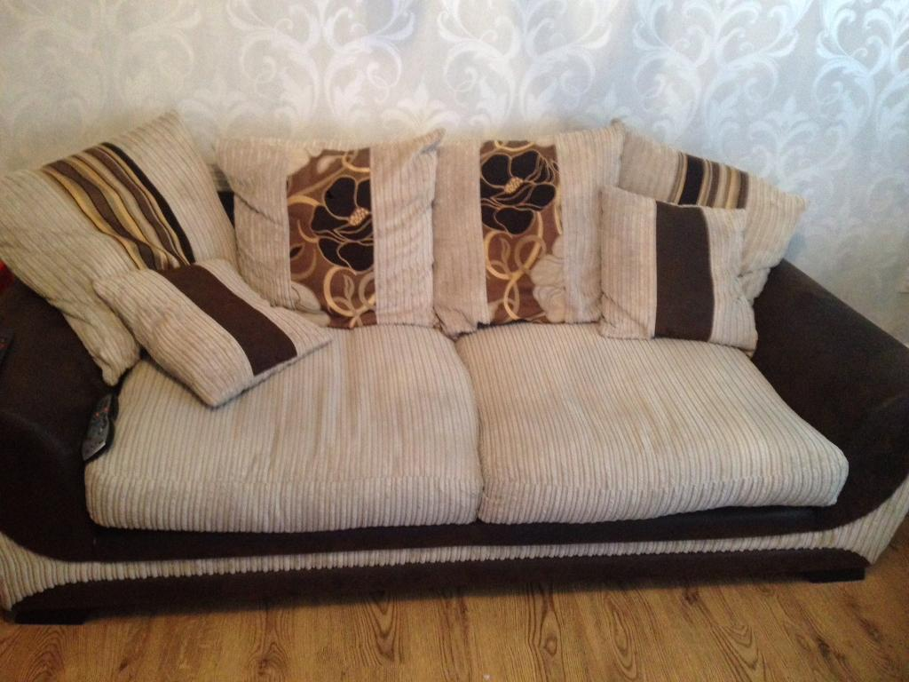3 seater and 2 seater half leather material