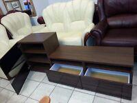 dark brown colour TV stand & mach cabinet. excellent condition.