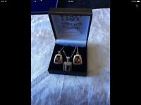 925 silver Amber set great Mother's Day gift