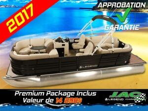 2017 Legend Boats Ponton Black Series Lounge 25 EL Bateau Pêche
