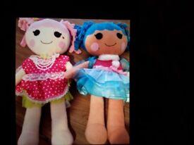 Build a bear lalaloopsy dolls x 2