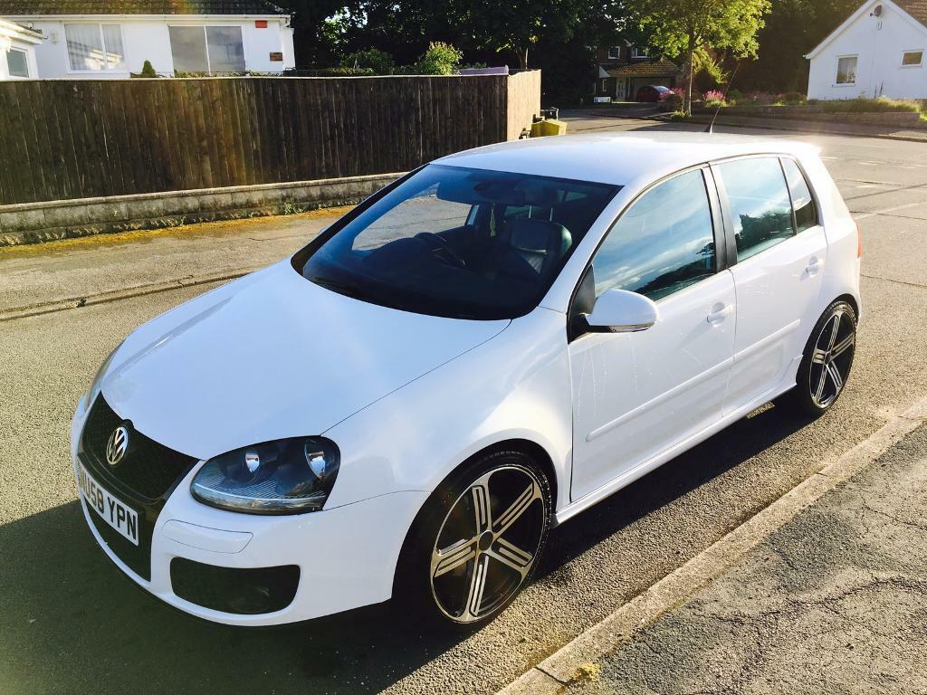 2008 volkswagen golf gt tdi gti spec 83k miles white 5 door diesel 170 in bournemouth dorset. Black Bedroom Furniture Sets. Home Design Ideas