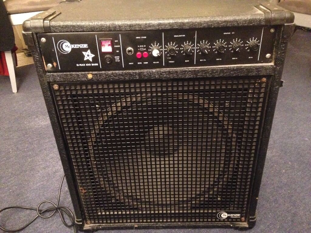 bass amp mckenzie q max 100w 15 speaker in manchester city centre manchester gumtree. Black Bedroom Furniture Sets. Home Design Ideas