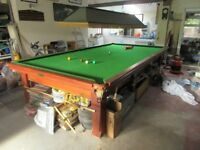 Full Size Snooker Table - Slate Bed