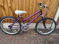 """GIRLS 24"""" WHEEL BIKE...EHODUS DIVA,GRAT CONDITION AND ALL READY TO RIDE AWAY."""