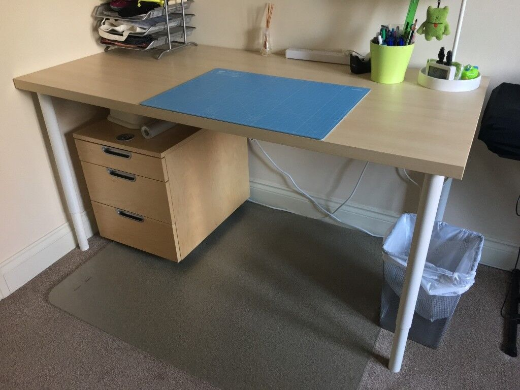 Terrific Ikea Olov Linnmon Office Table W Adjustable Legs In Reading Berkshire Gumtree Download Free Architecture Designs Rallybritishbridgeorg