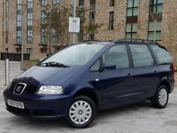2001 SEAT ALHAMBRA 1.9 TDI S MANUAL 6 SPEED 7 SEATER ONLY 64.000 MILES 1 OWNER FROM NEW IMMACULATE