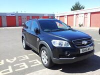 chevrolet captiva 2010 black 7 seater. car has a full mot and in good