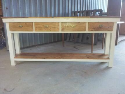 Made to measure pallet wood topped bench with drawers Lonsdale Morphett Vale Area Preview