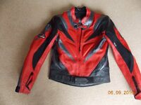 Leather motorcycle jacket size 38