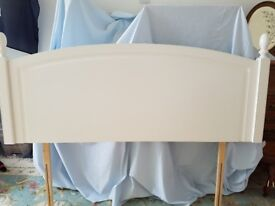 DOUBLE BED HEADBOARD- ERCOL- WHITE