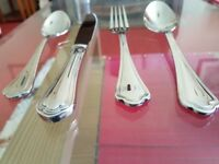 Brand New .Job Lot for 100 persons, Branded 3.0 gauge mirror polished stainless steel cutlery.