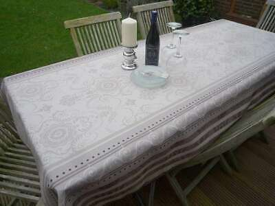 Tischdecke Provence 150x240 cm creme grau Ornamente aus Frankreich, pflegeleicht ()