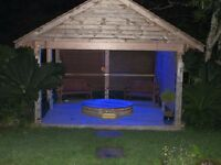 Cedar Wood hot tub .