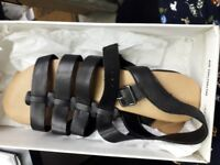Black Sandals -Size 8 - Brand New Australian Size Paid £80 Now selling for £30