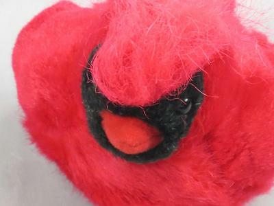 BIRD CALLS RED BLACK CARDINAL SPRINGTIME BIRD REALISTIC SOUNDS PLUSH  AUDUBON
