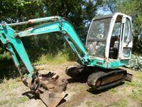 digger excavator 2.8 ton 3 buckets plant machine diesel look cheap