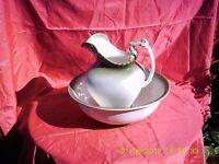 ewer and bowl