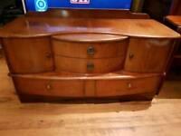 Vintage Retro Dressing Table Console Sideboard Dresser Desk 4 Drawers LUBUS MAKER