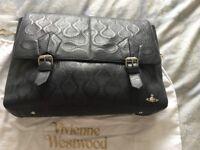 Men's vivienne Westwood leather messenger bag