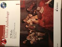 Baroque Violin Anthology Music book with CD