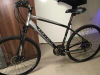 "LARGE HYBRID BIKE - CARRERA CROSSFIRE 2- suspension disc brakes 28""wheels ideal city road bicycle"