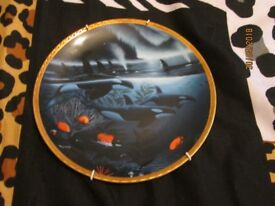 Limited Edition Wyland The Hamilton Orca Journey Great Mammals Of The Sea Plate numbered
