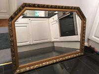 Gold gilt edge mantle mirror