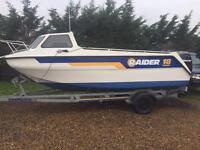 Raider cuddy 18 sports fishing boat 100 hp mercury Engine 2007 gps