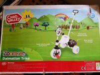 Brand new kids dalmatian trike