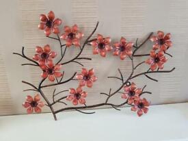Red flower wall art