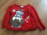 Girls Christmas T Shirt - 3-4 Years