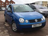 Volkswagen Polo 1.2 E 2003 + FULL SERVICE HISTORY + LOW 69,000 MILES + LADY KEEPER