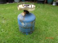 Camping Gaz 6lb bottle including attached stove