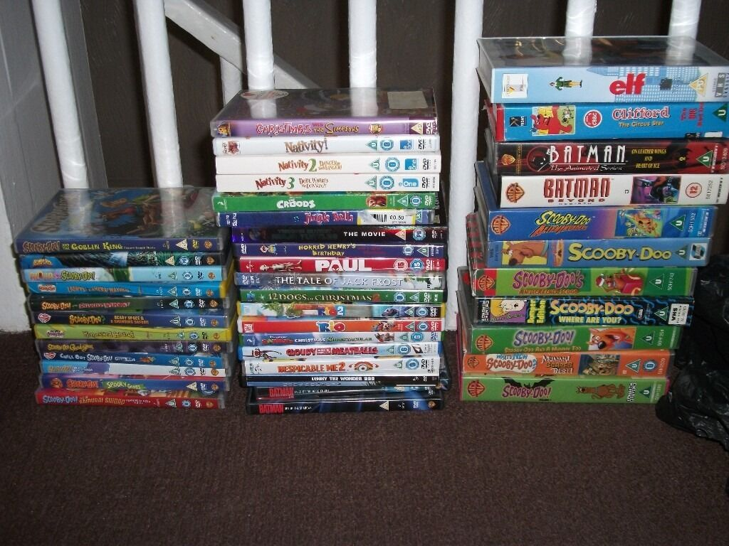 Selection Of Childrensteenagers And Adult Dvds Videos