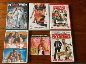6x Adult Humour Comedy DVDs Bundle: Austin Powers, American Pie, Jump Street...