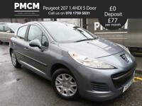 PEUGEOT 207 2010 1.4HDI S 5 Door - ECONOMICAL DIESEL - £30 TAX - LONG MOT - fiesta corsa 308 2010