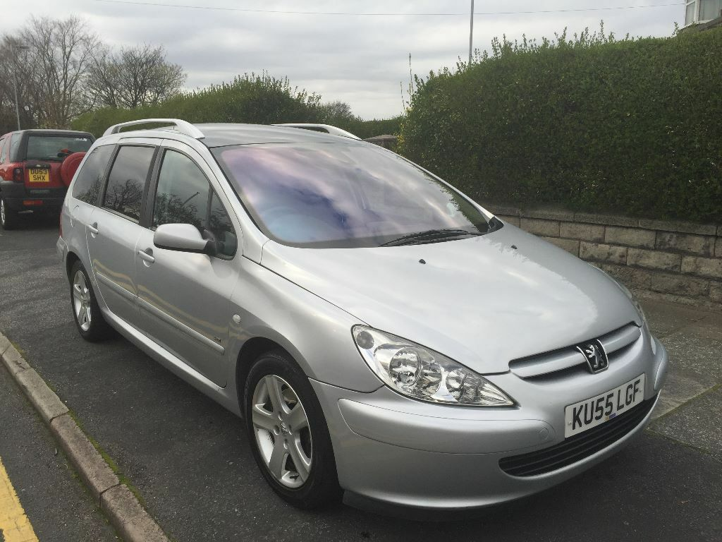 2005 39 55 39 peugeot 307 sw se hdi silver 7 seater panoramic. Black Bedroom Furniture Sets. Home Design Ideas