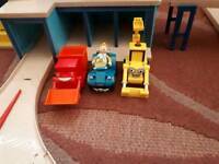 Bob the builder snap Trax garage and car wash