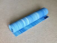 Yoga Mat by 'Yoga Mad', blue, very clean and hardly used (and never outdoors). 6 x 2 ft