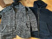Zara and Next winter jumpers L and XL