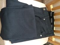 "3 PAIRS MENS JEANS 38"" WAIST SHORT LEG - 2 BLACK 1 BLUE"