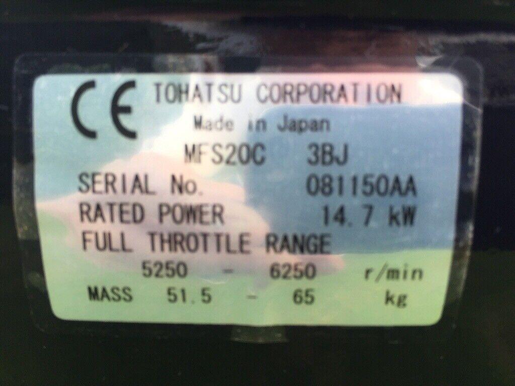 Tohatsu MFS20C Outboard Engine | in Inverurie, Aberdeenshire | Gumtree